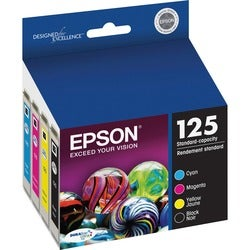 Epson DURABrite No. 125 Ink Cartridge - Black, Cyan, Magenta, Yellow
