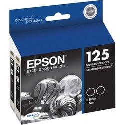 Epson DURABrite No. 125 Dual Pack Ink Cartridge