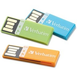 Verbatim 4GB Clip-it 97563 Flash Drive - 3 Pack
