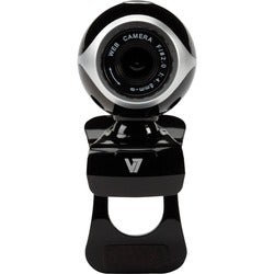 V7 CS0300 Webcam - 0.3 Megapixel - Black, Silver - USB 2.0