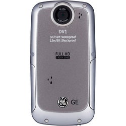 GE DV1-GG Waterproof/Shockproof 1080P Blue Digital Camcorder