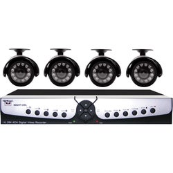 Night Owl Security APOLLO-45 4-Channel H.264 DVR Surveillance Kit with D1 Recording