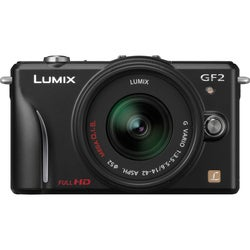 Panasonic Lumix DMC-GF2 12.1MP Mirrorless Black Digital SLR Camera with 14-42mm Lens