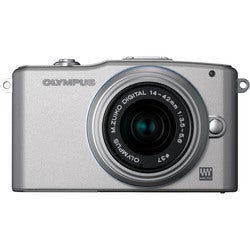 Olympus PEN E-PM1 12MP Silver Mirrorless Digital SLR Camera with 14-42mm II Lens