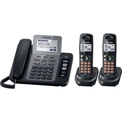 Panasonic KX-TG9472B DECT 6.0 1.90 GHz Cordless Phone - Black