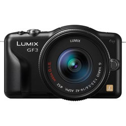 Panasonic Lumix DMC-GF3X 12.1MP Mirrorless Black Digital SLR Camera