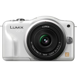 Panasonic Lumix DMC-GF3X 12.1MP Mirrorless White Digital SLR Camera