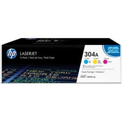 HP 304A LaserJet Toner Cartridge (Cyan, Magenta, and Yellow)