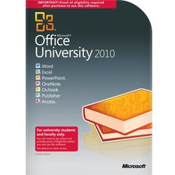 Microsoft Office 2010 University With Service Pack 1 32/64-bit - Comp