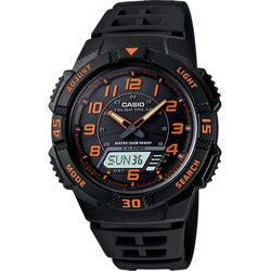 Casio Men's Black/Orange Dual Function Watch