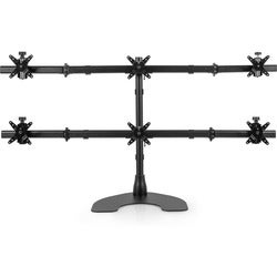 Ergotech 100-D28-B33 Hex (3 Over 3) LCD Desk Stand