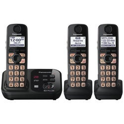 Panasonic KX-TG4733B Cordless Phone - 1.90 GHz - DECT - Black