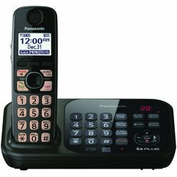 Panasonic KX-TG4741B Cordless Phone - 1.90 GHz - DECT 6.0 - Black