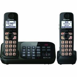 Panasonic KX-TG4742B DECT 6.0 1.90 GHz Cordless Phone - Black