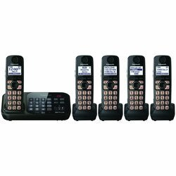 Panasonic KX-TG4745B Cordless Phone - 1.90 GHz - DECT 6.0 - Black