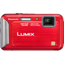 Panasonic Lumix DMC-TS20 16.1MP Red Digital Camera