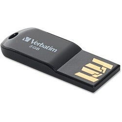 Verbatim Store 'n' Go Micro 44049 8 GB USB Flash Drive - Black