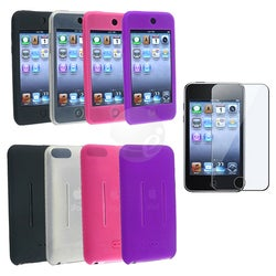 Eforcity 4 Silicone Skin Cases Screen Protector for iPod Touch Gen2