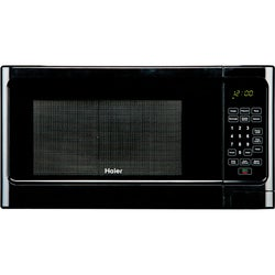 Haier 1.1-Cubic-Foot Black 1,000-Watt Microwave