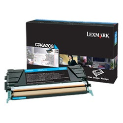 Lexmark Single Toner Cartridge - Cyan