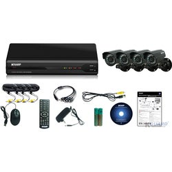 Kguard All-in-One Surveillance Combo Kit - 4CH H.264 DVR with 4 CMOS