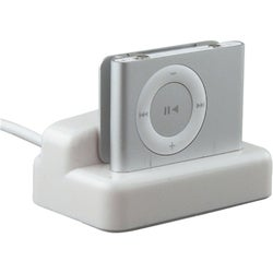 White 2-in-1 Multifunction Cradle for Apple iPod Shuffle 2nd Gen