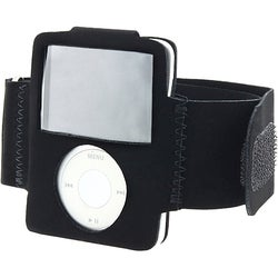 Eforcity Black Velvet Armband for iPod Nano Gen3