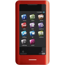 Coby MP828 8 GB Red Flash Portable Media Player
