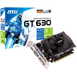 MSI N630GT-MD4GD3 GeForce GT 630 Graphic Card - 810 MHz Core - 4 GB D