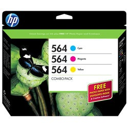 HP 564 Combo-pack Ink Cartridge - Cyan, Magenta, Yellow