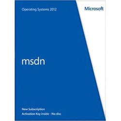 Microsoft MSDN Operating Systems 2012 - Subscription Package - 1 User