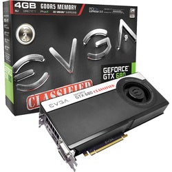 EVGA GeForce GTX 680 Graphic Card - 1111 MHz Core - 4 GB GDDR5 SDRAM