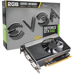 EVGA GeForce GTX 650 Graphic Card - 1202 MHz Core - 2 GB GDDR5 SDRAM