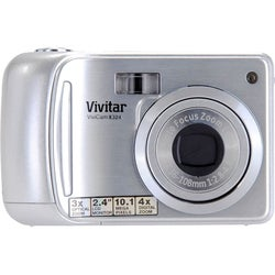 Vivitar ViviCam X324 10 Megapixel Compact Camera - Strawberry
