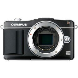 Olympus PEN E-PM2 16.1 Megapixel Mirrorless Camera (Body Only) - Blac