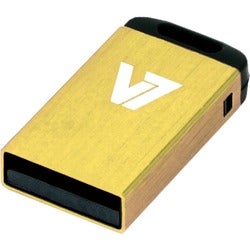 V7 VU24GCR 4 GB USB 2.0 Flash Drive - Yellow
