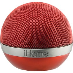 iHome iDM8 Speaker System - Wireless Speaker(s) - Red