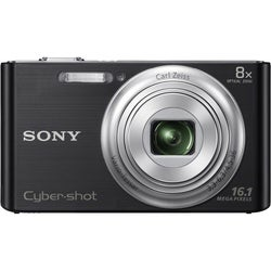Sony Cyber Shot DSC-W730 16.1MP Black Digital Camera