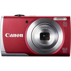 Canon PowerShot A2600 16MP Red Digital Camera