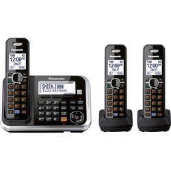 Panasonic KX-TG6843B DECT 6.0 1.90 GHz Cordless Phone - Black