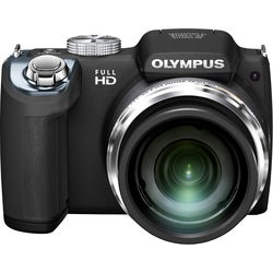 Olympus SP-720UZ iHS 14MP Black Digital Camera