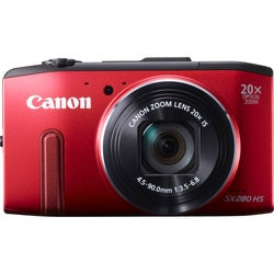 Canon PowerShot SX280 HS 12.1MP Red Digital Camera