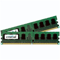 Crucial 4GB kit (2GBx2), 240-pin DIMM, DDR2 PC2-5300 Memory Module