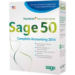 Sage 50 Complete Accounting 2014 With1 Year Sage Business Care Silver