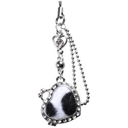 BasAcc Leopard Cell Phone Charm - Black/White