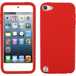 Insten Red Silicone Skin Gel Rubber Case Cover For Apple iPod Touch 5th/ 6th Gen