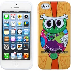 INSTEN Tropical Orange Owl candy skin Phone Case Cover for Apple iPhone 5