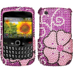 INSTEN Blooming Diamante Protector Phone Case Cover for BlackBerry 8520 Curve