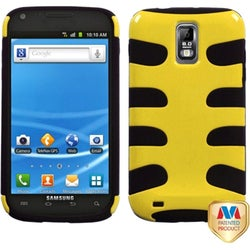 INSTEN Yellow/ Black Phone Case Cover for Samsung Galaxy S II/ S2 T989 Hercules