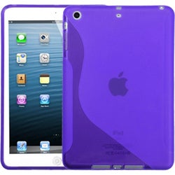 BasAcc Purple S Shape Candy Skin Cover for Apple iPad Mini